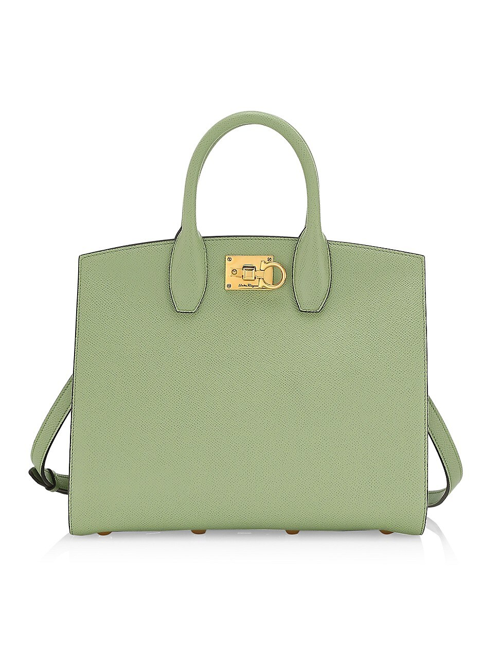 Salvatore Ferragamo Leathers WOMEN'S STUDIO LEATHER TOP HANDLE BAG