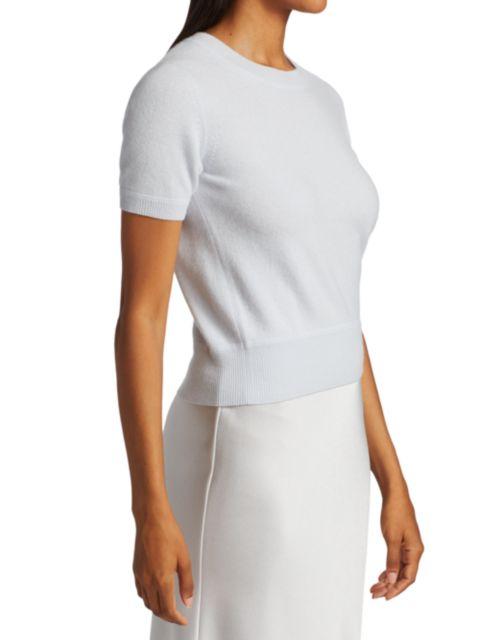 Naadam Cashmere Short-Sleeve Sweater   SaksFifthAvenue