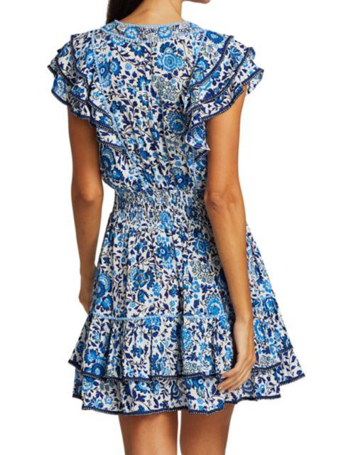 Poupette St Barth Camila Floral Ruffled Mini Dress   SaksFifthAvenue