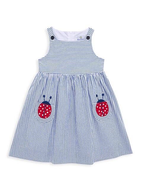 Little Girl's Striped Seersucker Dress