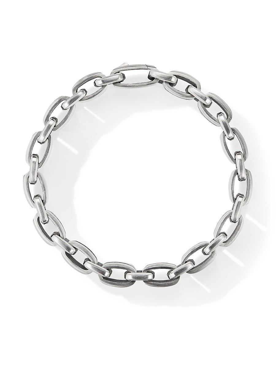 DAVID YURMAN Bracelets BEVELED PAVÉ BLACK DIAMOND STERLING SILVER LINK BRACELET