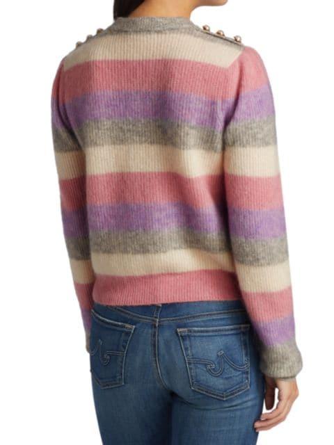 Generation Love Brielle Pearl-Button Trimmed Striped Sweater | SaksFifthAvenue