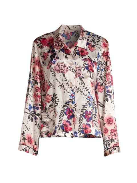 Morgan Lane Ruthie Wildflower Pajama Top | SaksFifthAvenue