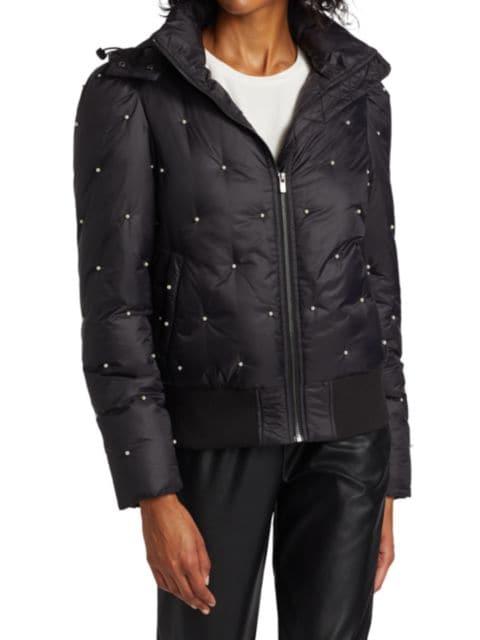 Generation Love Destiny Pearl-Embellished Puffer Jacket   SaksFifthAvenue