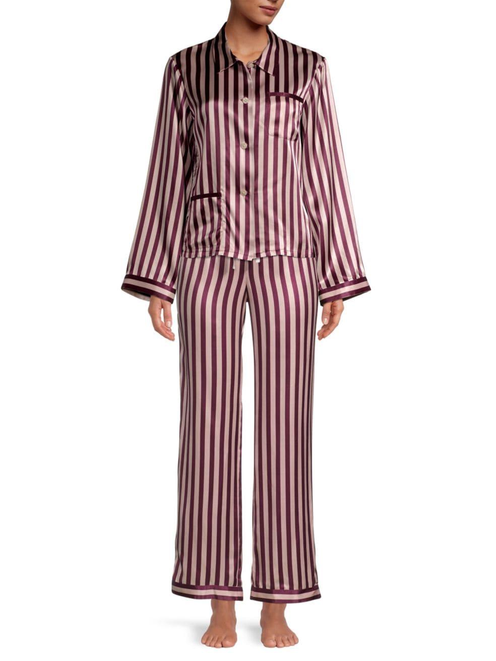 Morgan Lane Chantal Striped Pajama Pants | SaksFifthAvenue