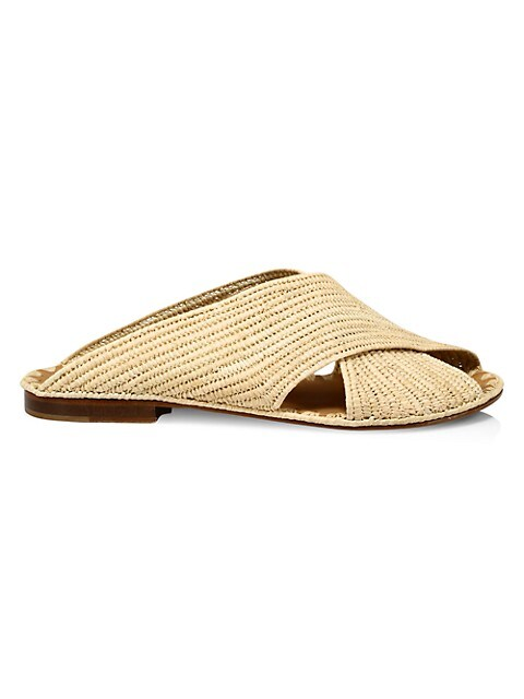 Arielle Raffia Slide Sandals