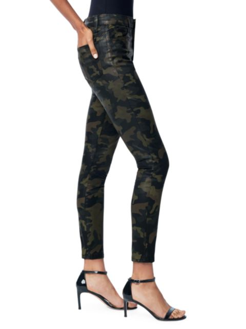 Joe's Jeans Charlie High-Rise Coated Camouflage Ankle Skinny Jeans   SaksFifthAvenue