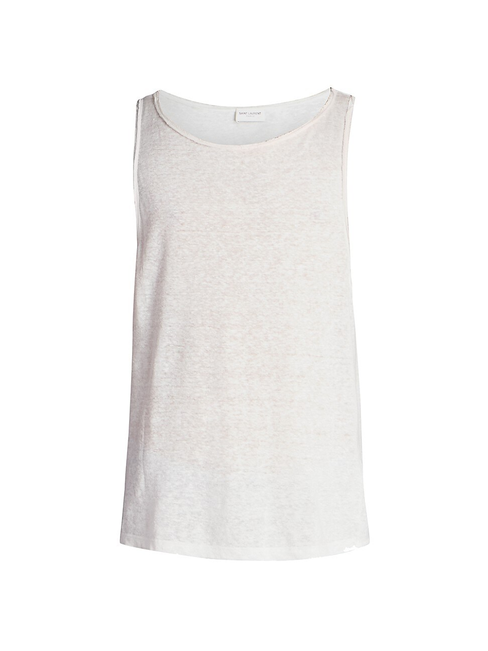 Saint Laurent MEN'S LINEN TANK TOP