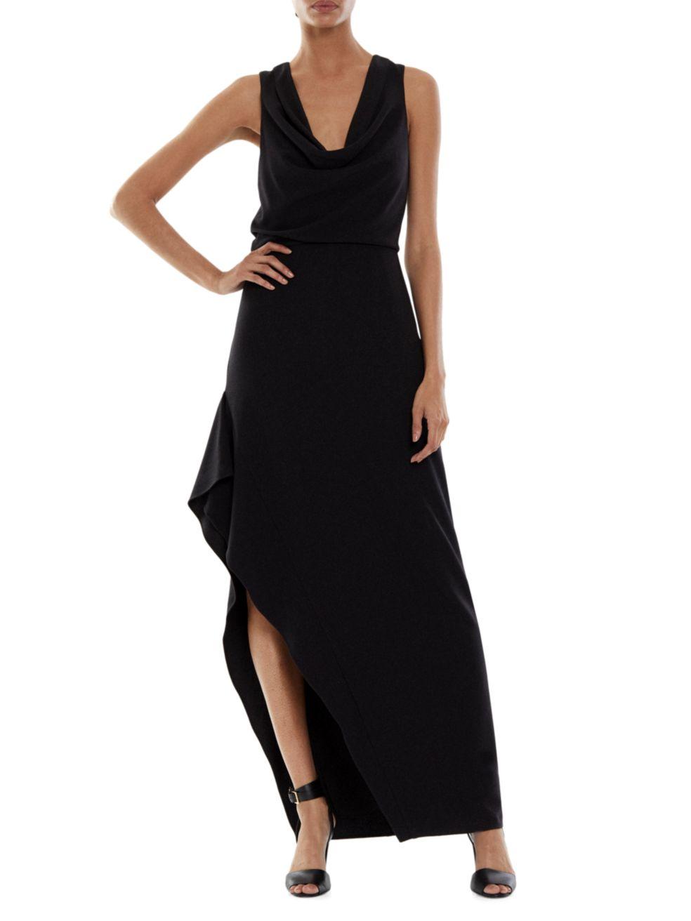 Halston Effie Cowl Neck Gown | SaksFifthAvenue