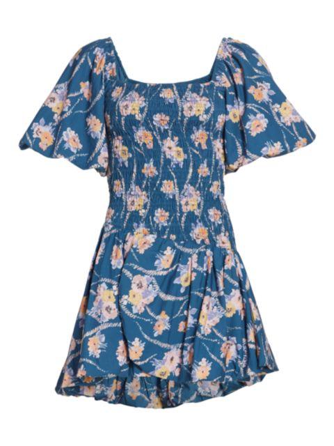LoveShackFancy Asa Floral Smocked Mini Dress   SaksFifthAvenue