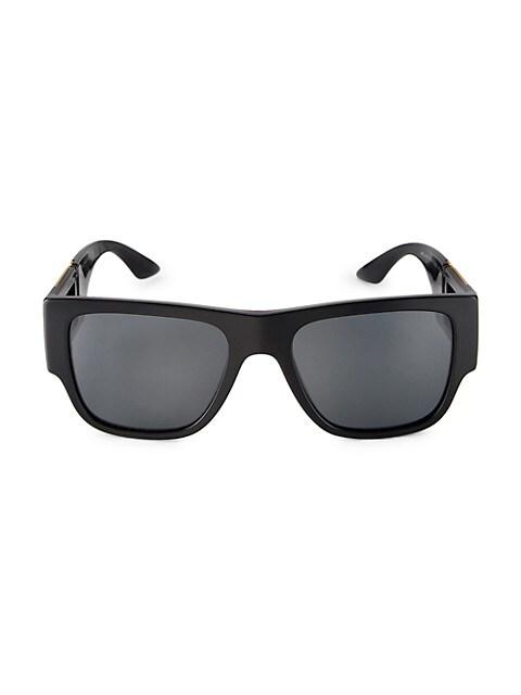58MM Square Pilot Sunglasses