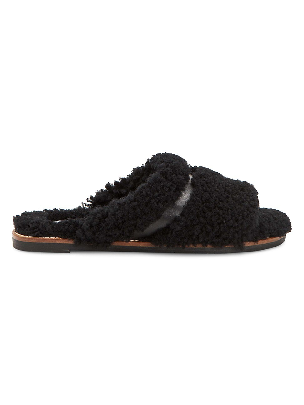 Aquatalia WOMEN'S ALINA SHEARLING & LEATHER SLIPPERS