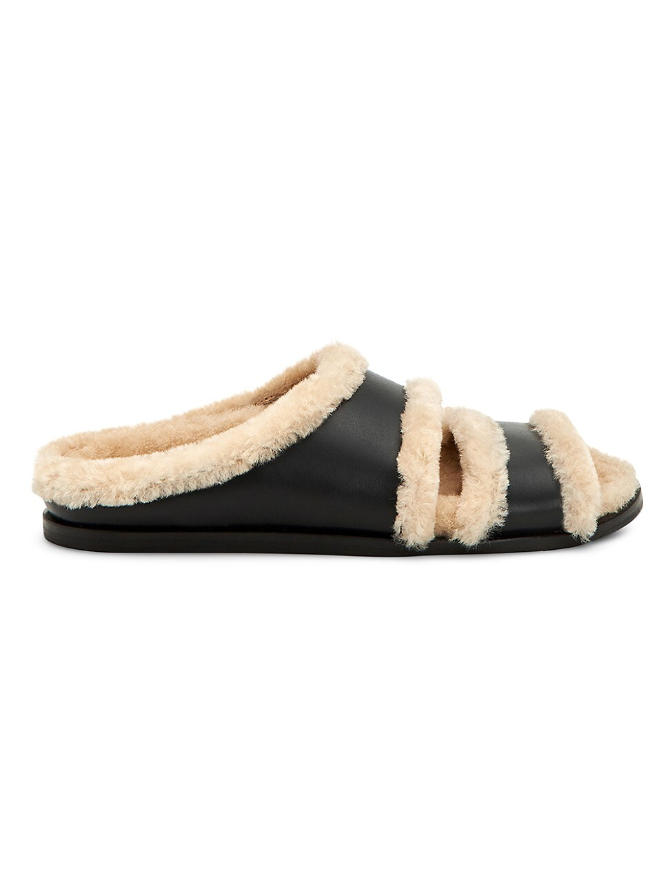 Aquatalia WOMEN'S IMINA SHEARLING-LINED LEATHER SLIPPERS