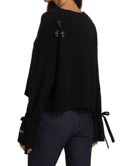 Cinq à Sept Tasha Embroidered Wool-Blend Pullover Sweater   SaksFifthAvenue