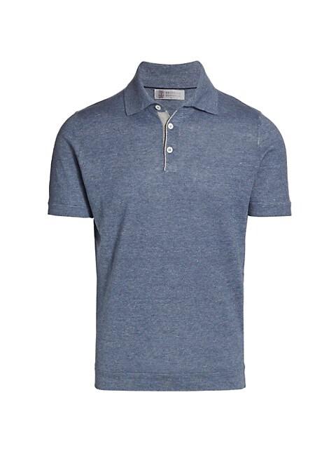 Linen-Blend Polo T-Shirt