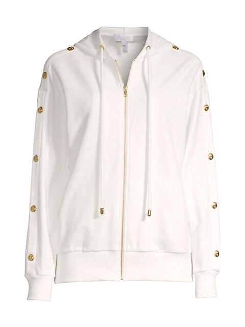 Bengeri Zip-Front Cotton Hoodie