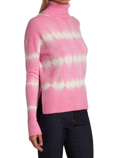 Cinq à Sept Kenny Tie-Dye Merino Wool & Cashmere Turtleneck Sweater   SaksFifthAvenue