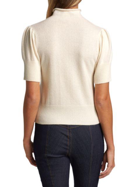 Cinq à Sept Annabelle Short-Sleeve Cashmere Sweater   SaksFifthAvenue