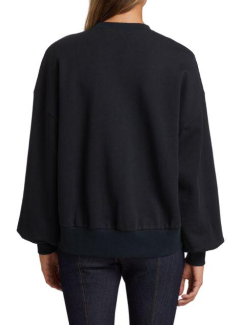 Cinq à Sept Blaire Crystal-Embellished Cotton Sweatshirt | SaksFifthAvenue