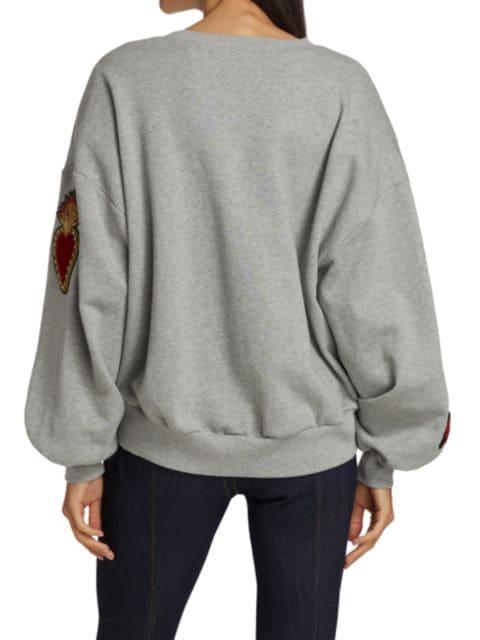 Cinq à Sept Blaire Embellished Patch Pullover | SaksFifthAvenue