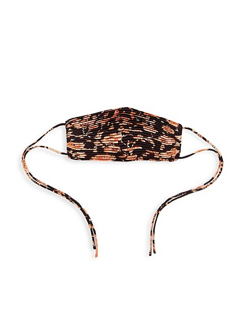 Floral-Print Pleated Face Mask