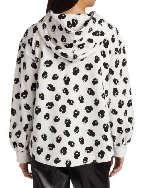 Alice + Olivia Mckenzie Stace Face Print Zip-Front Hoodie | SaksFifthAvenue