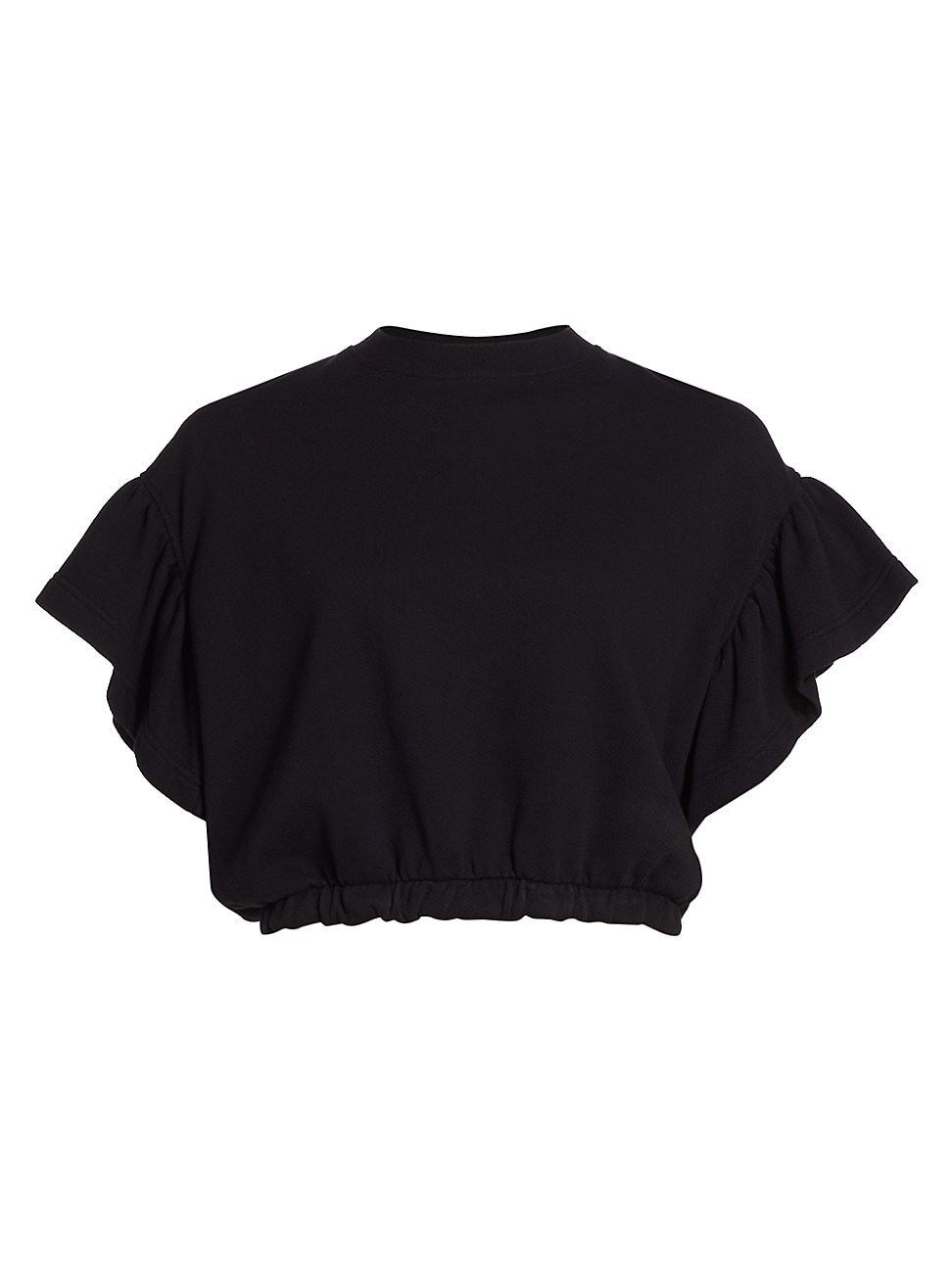 Alice And Olivia WOMEN'S JOLINE RUFFLE-SLEEVE CROP SWEATSHIRT