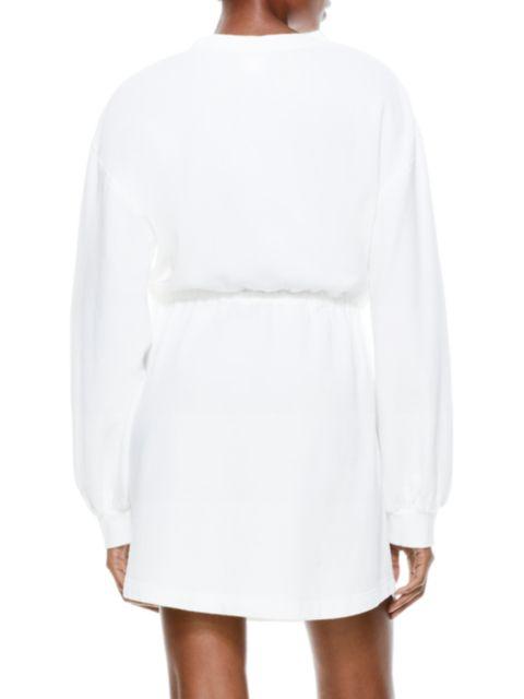 Alice + Olivia Heeda Dropped-Shoulder Toggle Dress   SaksFifthAvenue