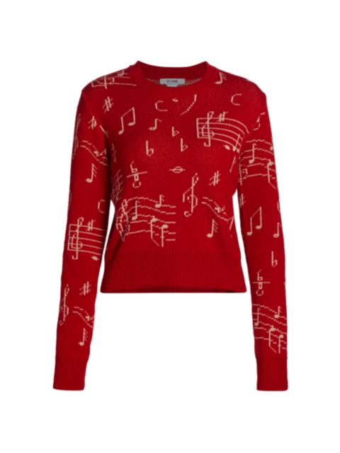 Re/done Music Note Sweater   SaksFifthAvenue