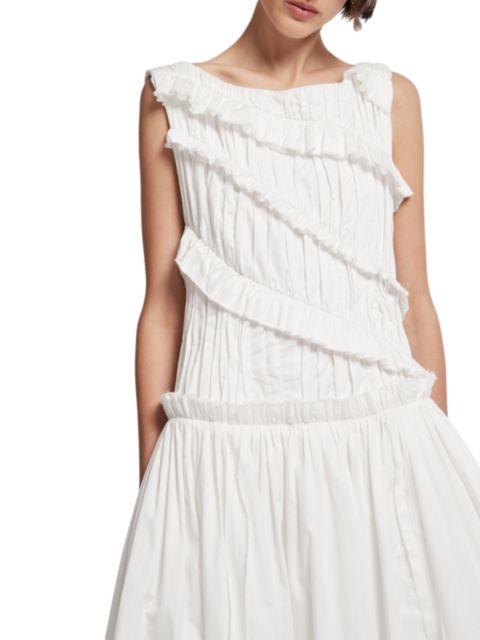 Aje Hushed Ruffle Cotton Midi Dress   SaksFifthAvenue