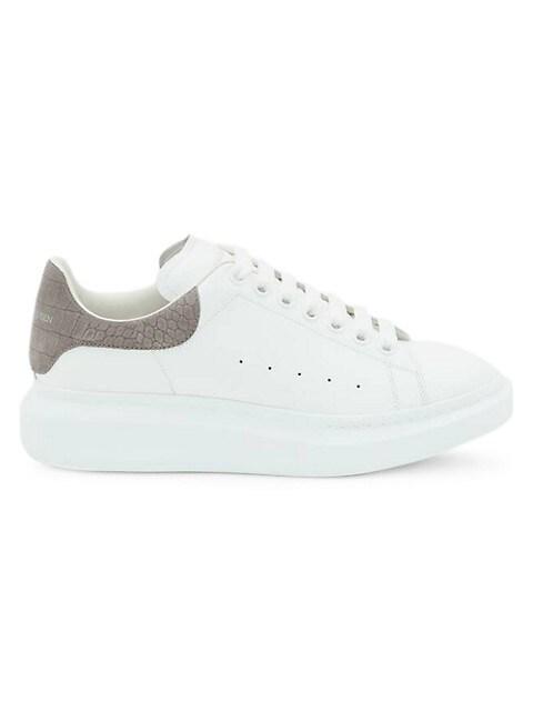 Men's Croc-Embossed Suede Oversized Sneaker