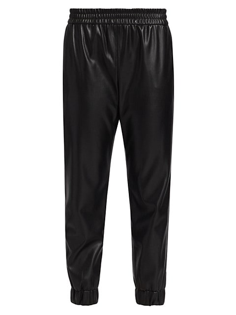 Pete Low-Rise Vegan Leather Pants