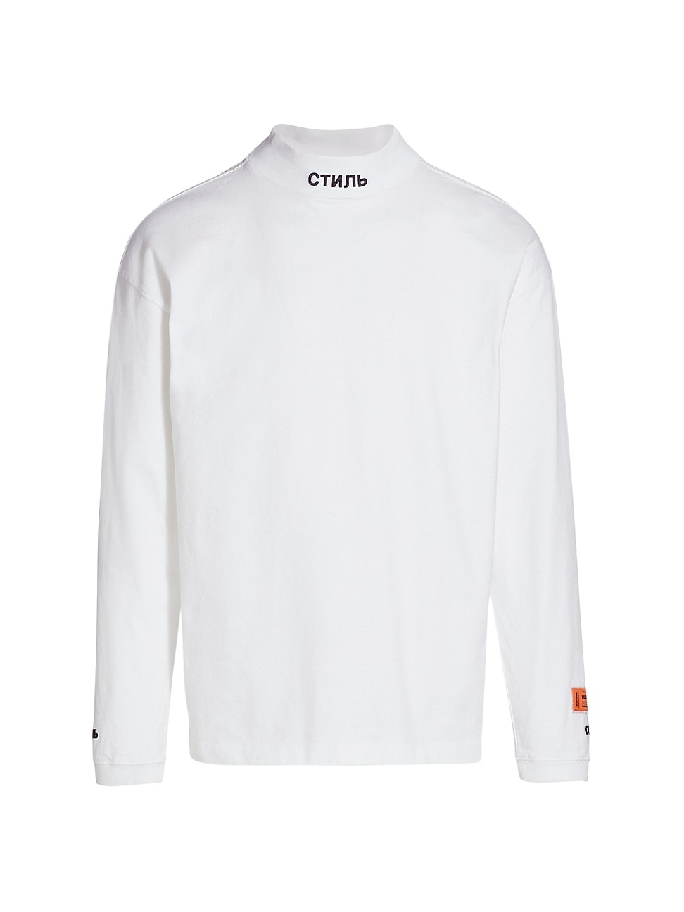 Heron Preston Cottons MEN'S MOCKNECK LONG-SLEEVE T-SHIRT