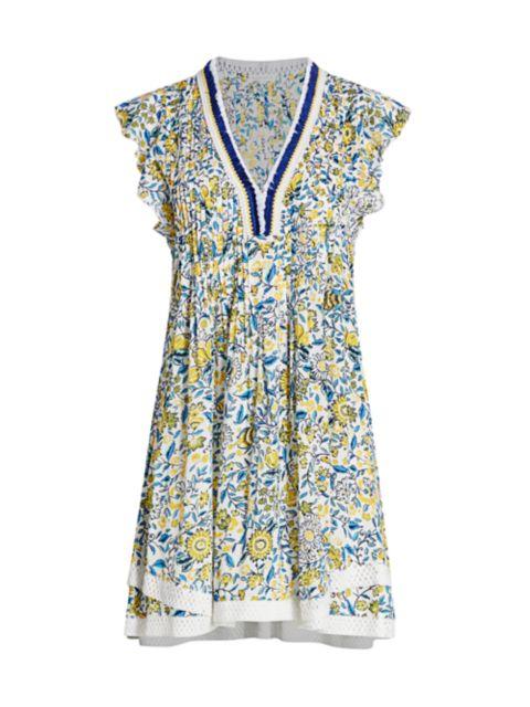 Poupette St Barth Sasha Floral Print Dress   SaksFifthAvenue