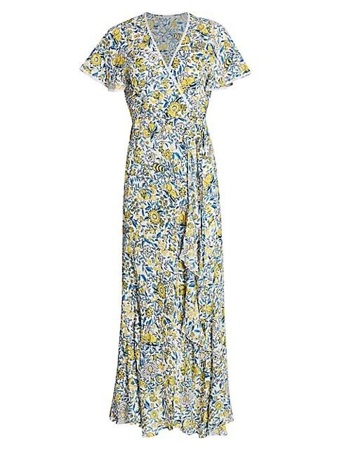 Joe Floral Print Wrap Maxi Dress
