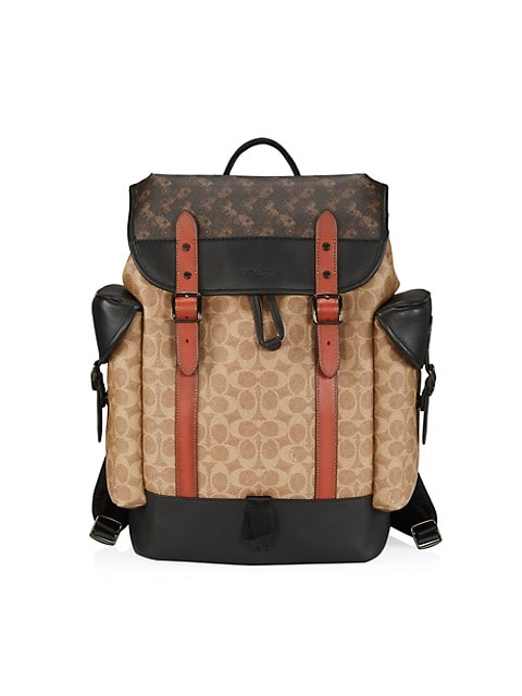 Hitch Signature Coated Canvas & Leather Backpack