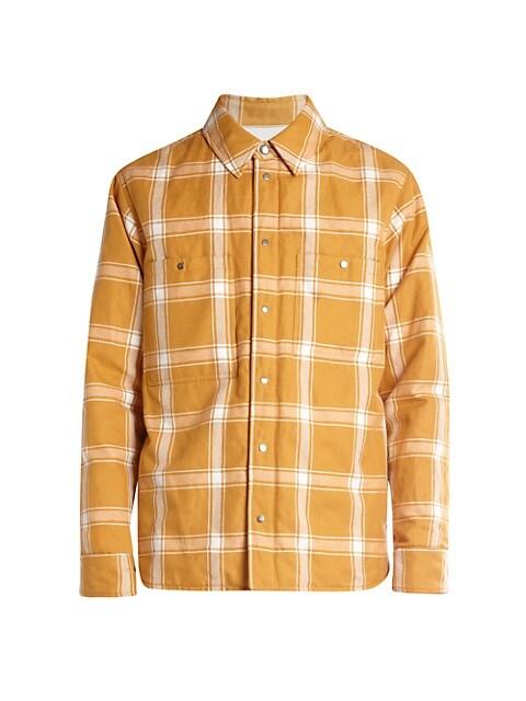 2 Moncler 1952 Lapetus Plaid Shirt Jacket