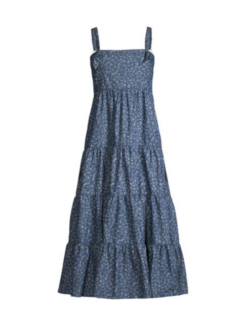 Likely Kimber Denim Midi Dress | SaksFifthAvenue
