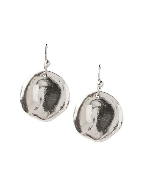 Sterling Silver Coin Drop Earrings