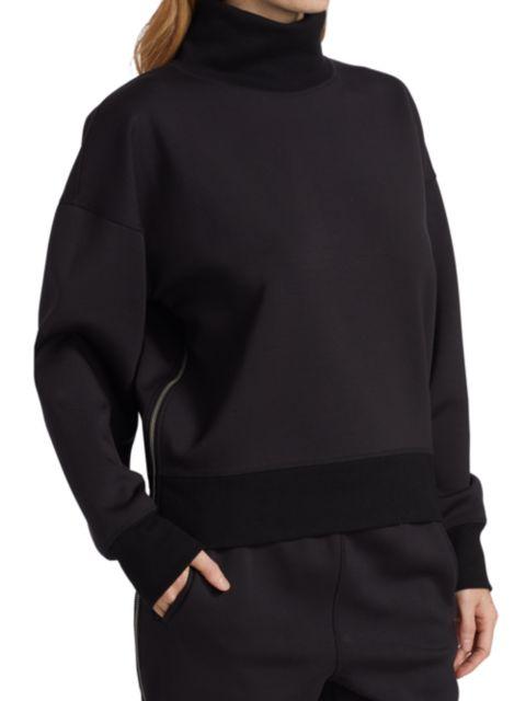 Rag & Bone Modular Zipper-Trimmed Turtleneck Sweatshirt | SaksFifthAvenue