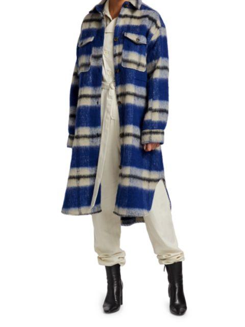 Munthe Satara Plaid Wool-Blend Coat   SaksFifthAvenue