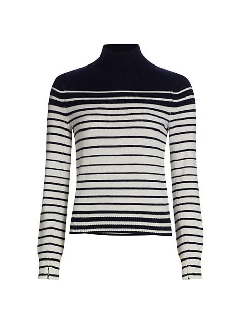 Pierce Cashmere Striped Turtleneck Sweater