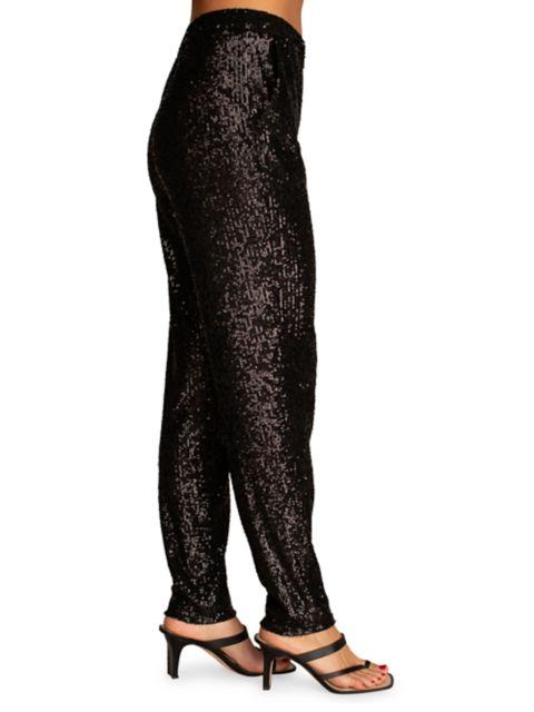 Trina Turk Sparkler Sequin Pants   SaksFifthAvenue