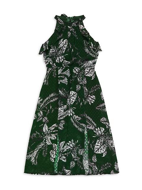 Girl's Printed Chiffon Dress