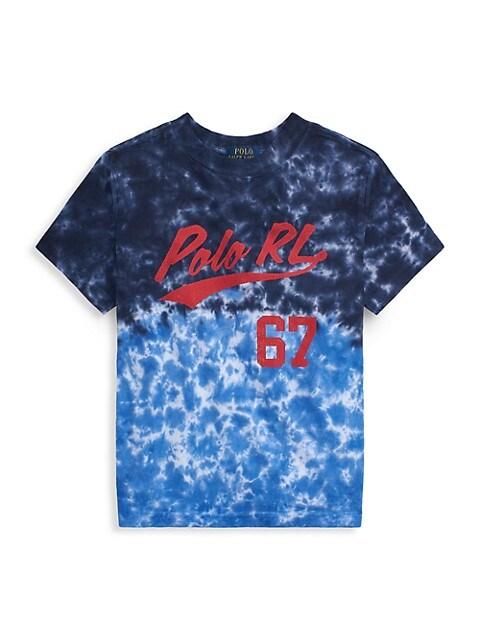 Ralph Lauren Little Boys Tie Dye Logo Graphic T-Shirt