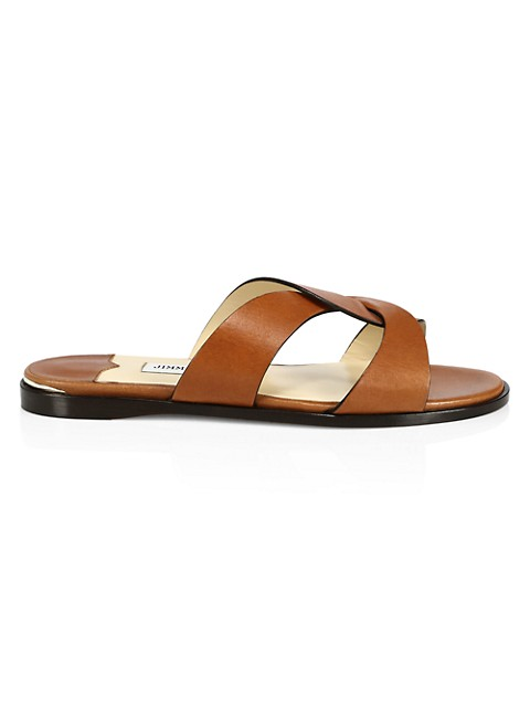 Atia Leather Slides