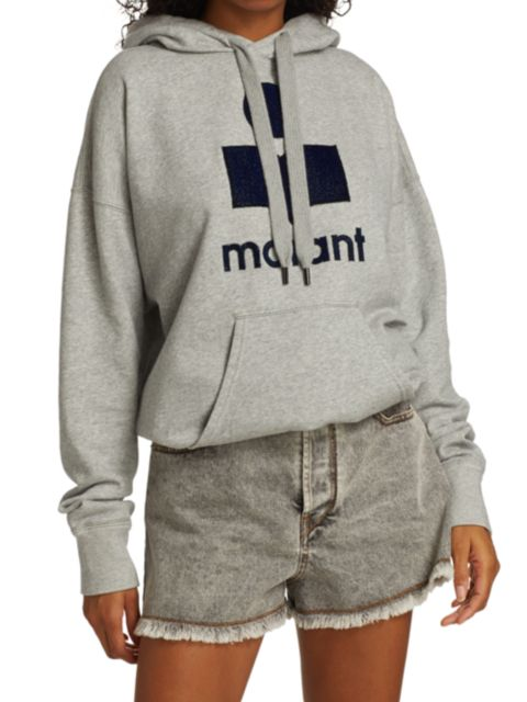 Isabel Marant Etoile Mansel Logo Hoodie | SaksFifthAvenue