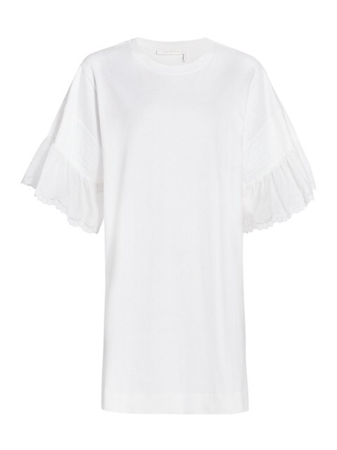 Lace-Cuff T-Shirt Dress
