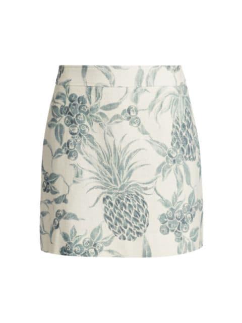 See by Chloé Spring Fruits Mini Ramie Skirt | SaksFifthAvenue