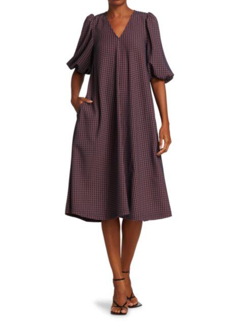Stine Goya Dream Extreme Mavelin Check Shift Dress | SaksFifthAvenue
